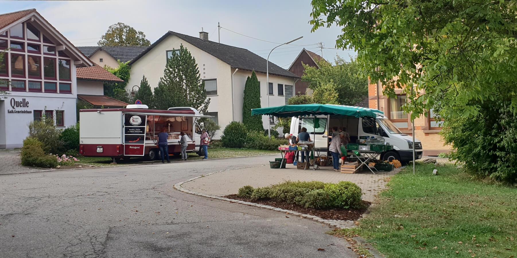 Bild vom Wochenmarkt in Winzeln