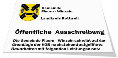 Bild des Kopfes einer öffentlichen Ausschreibung der Gemeinde Fluorn-Winzeln
