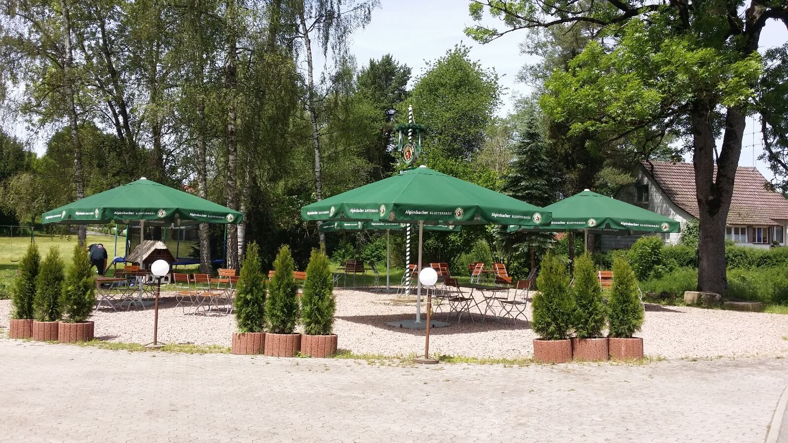 Biergarten des Gasthaus Hirsch