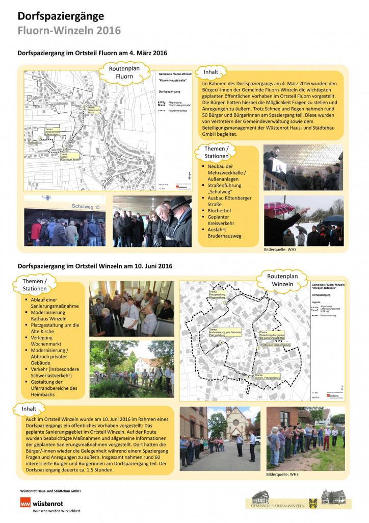 Plakat zu den Dorfspaziergängen