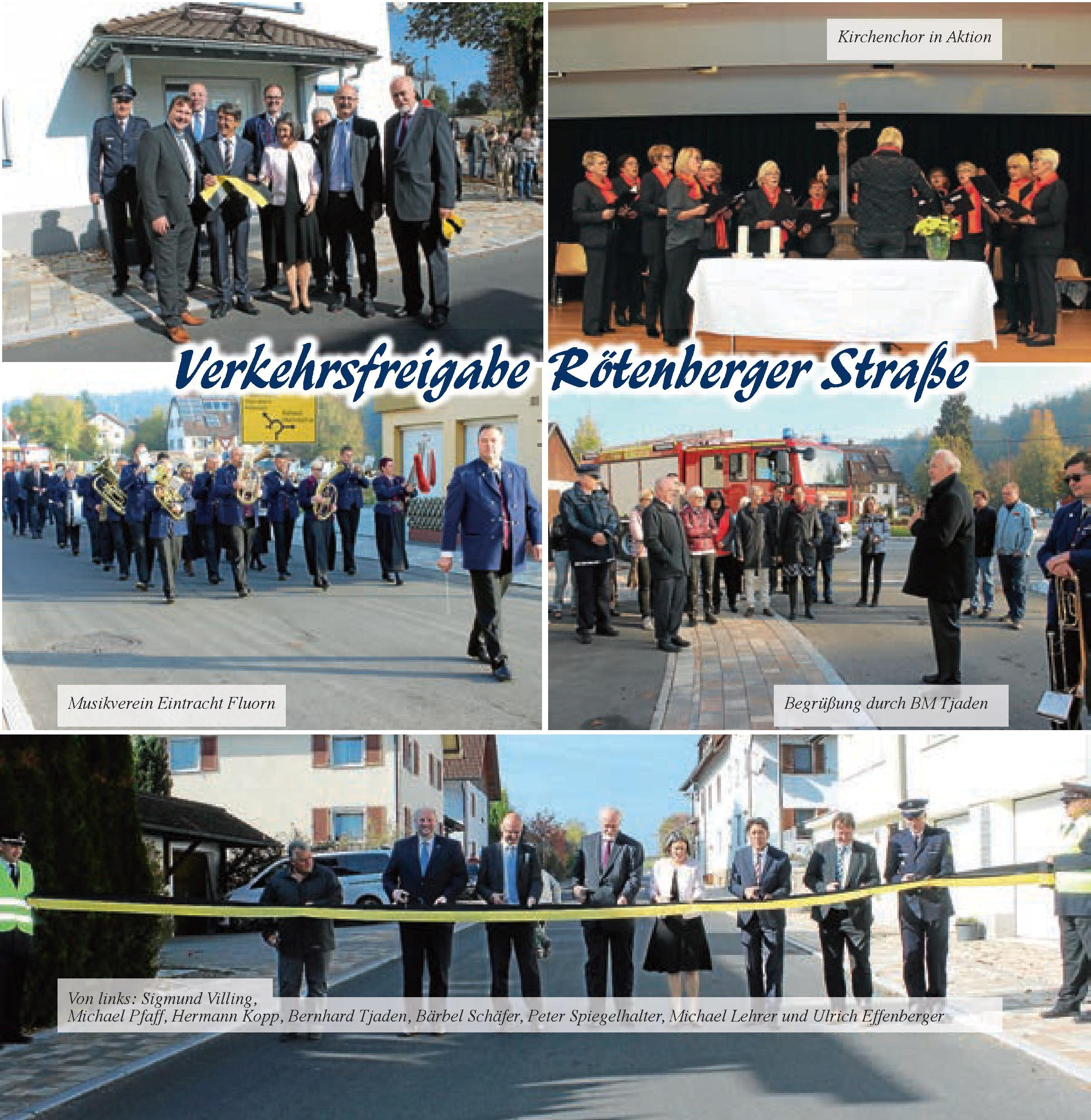 Bilder von der Verkehrsfreigabe der Rötenberger Straße