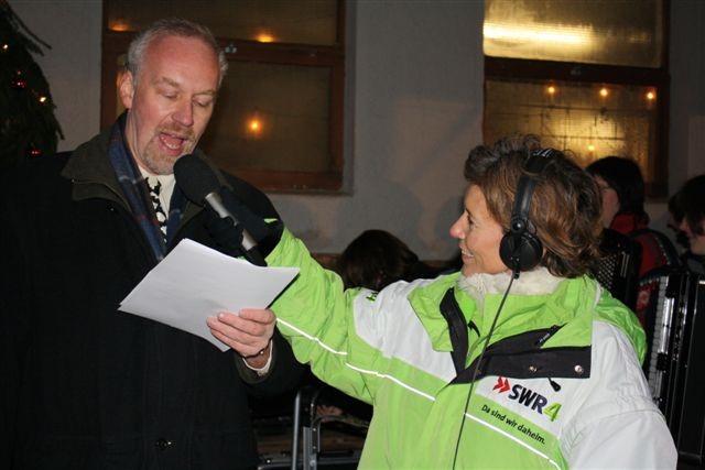 Bild von Bürgermeister Tjaden im Radiointerview