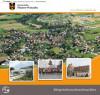 Titelbild der Bürgerinformationsbroschüre mit Luftbild von Fluorn-Winzeln, Mehrzweckhalle Fluorn, Rathaus Winzeln und Silvesterlauf in Fluorn