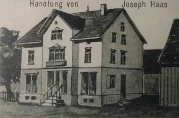Bild des Hauses der Familie Haas historisch