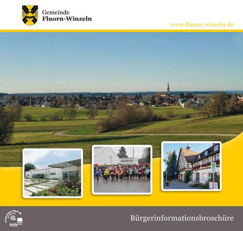 Titelseite der Bürgerinformationsbroschüre 2021 mit einem Blick auf Winzeln
